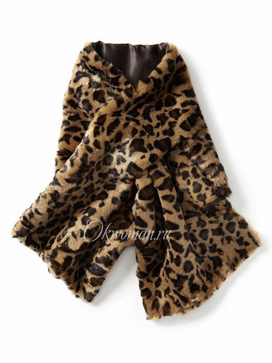 Scarves for women fall winter 2011 2012 fur  fashion trends